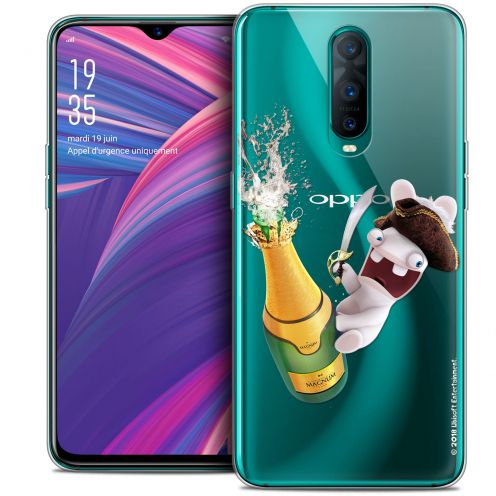 "Crystal Gel Oppo RX17 Pro (6.4"") Case Lapins Crétins™ Champagne !"