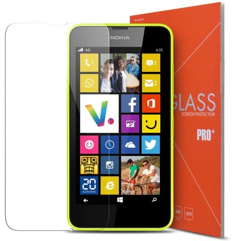Glass Pro+ Ultra HD 9H 0.33 mm Tempered Glass Screen Protector for Nokia Lumia 630 / 635