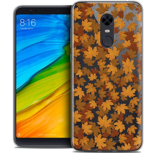"Extra Slim Crystal Gel Xiaomi Redmi 5 Plus (6"") Case Autumn 16 Feuilles"