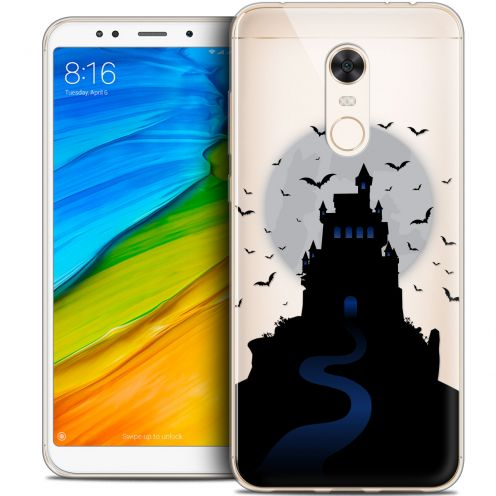 "Extra Slim Crystal Gel Xiaomi Redmi 5 Plus (6"") Case Halloween Castle Nightmare"