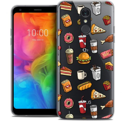"Extra Slim Crystal Gel LG Q7 (5.5"") Case Foodie Fast Food"