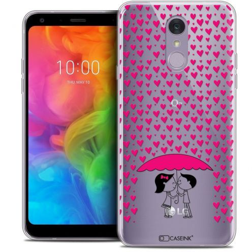 "Extra Slim Crystal Gel LG Q7 (5.5"") Case Love Pluie d'Amour"