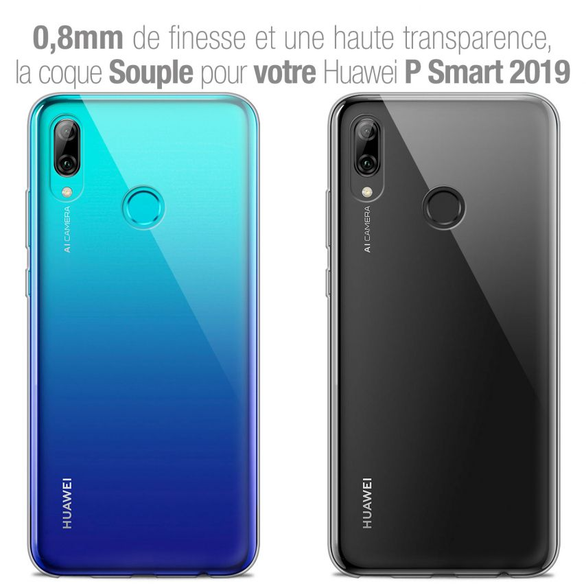 """Extra Slim 1mm Crystal Clear P Smart 2019 Flexible Case Huawei P Smart 2019 (6.21"""")"""