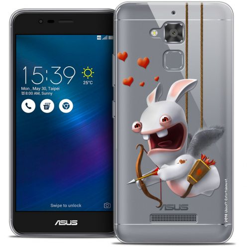 """Crystal Gel Asus Zenfone 3 Max ZC520TL (5.2"""") Case Lapins Crétins™ Flying Cupidon"""