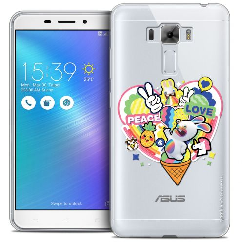 "Crystal Gel Asus Zenfone 3 Laser ZC551KL (5.5"") Case Lapins Crétins™ Peace And Love"