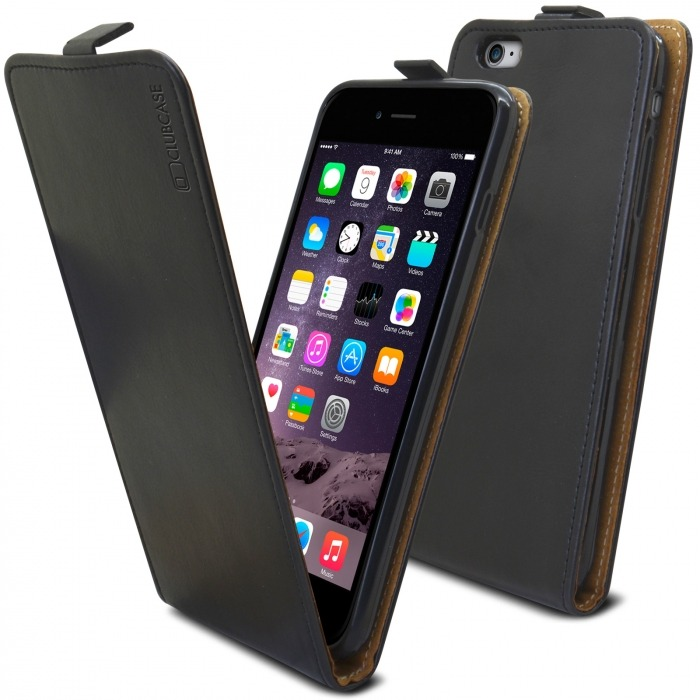 huge selection of 24958 f79b2 Clamshell Flip Flexi Case for Apple iPhone 6 Plus / 6s Plus Genuine Italian  Leather Black