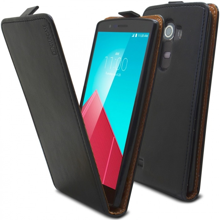 sports shoes a951a ac4c1 Clamshell Flip Flexi Case for LG G4 Genuine Italian Leather Black