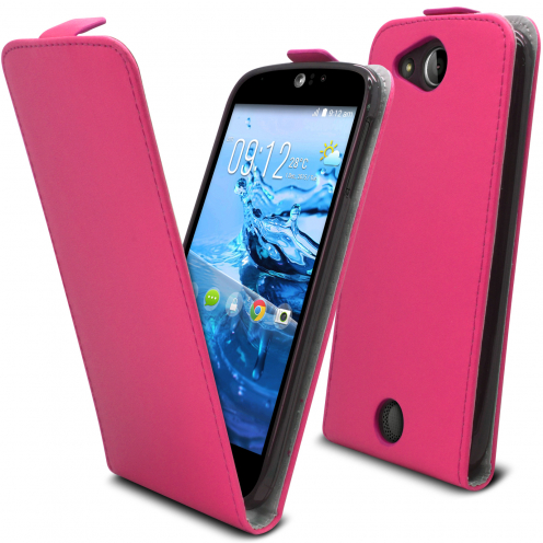 Clamshell Flip Flexi Case for Acer Liquid Jade S (s56) Eco Leather Pink