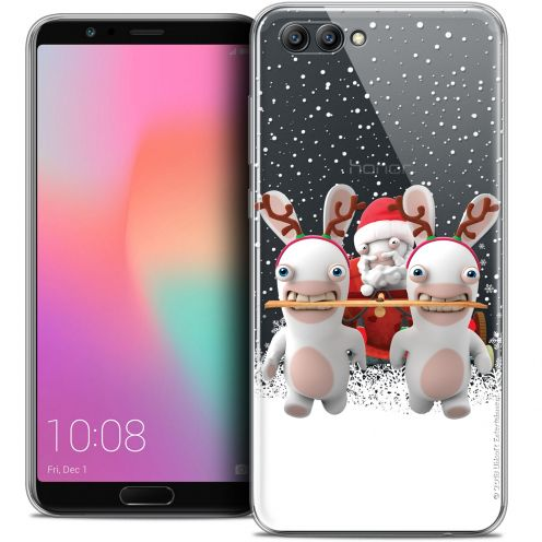 "Crystal Gel Honor View 10 / V10 (6"") Case Lapins Crétins™ Lapin Traineau"