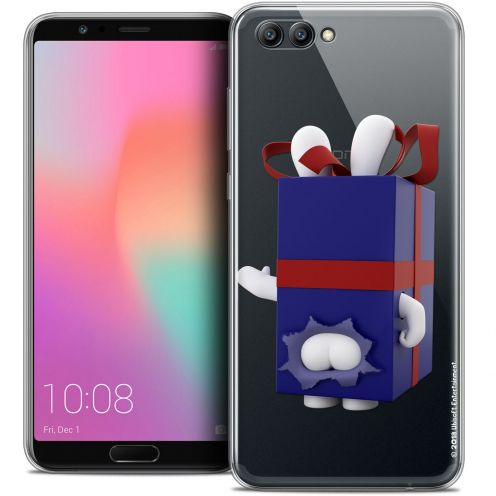 "Crystal Gel Honor View 10 / V10 (6"") Case Lapins Crétins™ Lapin Surprise Bleu"