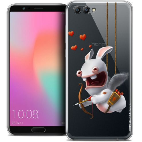 "Crystal Gel Honor View 10 / V10 (6"") Case Lapins Crétins™ Flying Cupidon"