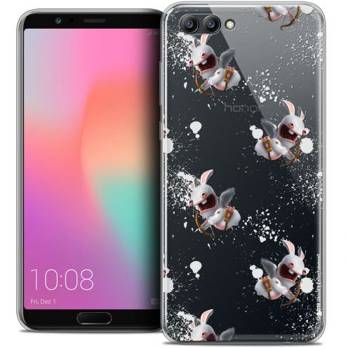 "Crystal Gel Honor View 10 / V10 (6"") Case Lapins Crétins™ Cupidon Pattern"