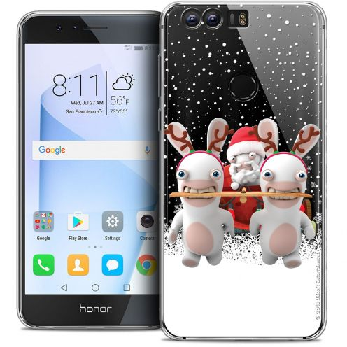 """Crystal Gel Huawei Honor 8 (5.2"""") Case Lapins Crétins™ Lapin Traineau"""