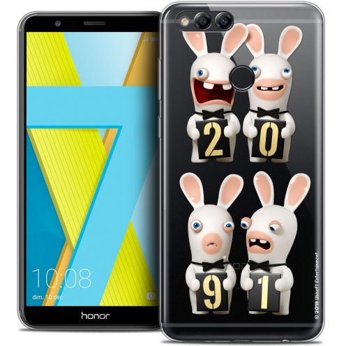 """Crystal Gel Honor 7X (5.9"""") Case Lapins Crétins™ New Year"""