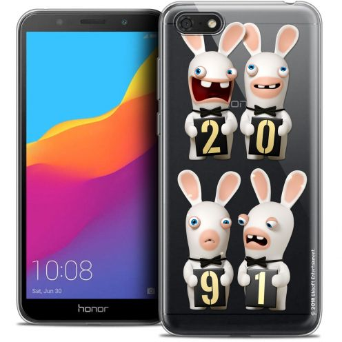 """Crystal Gel Honor 7S (5.45"""") Case Lapins Crétins™ New Year"""
