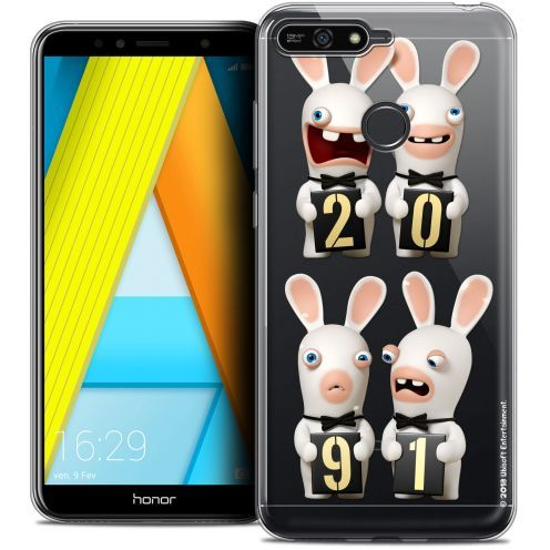 """Crystal Gel Honor 7A (5.7"""") Case Lapins Crétins™ New Year"""