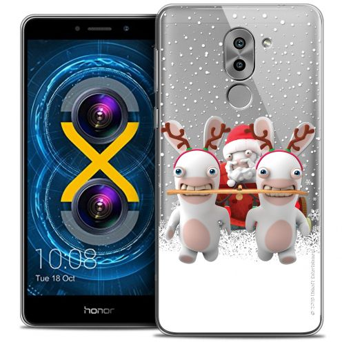 Crystal Gel Huawei Honor 6X Case Lapins Crétins™ Lapin Traineau