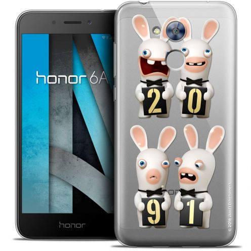 """Crystal Gel Huawei Honor 6A (5"""") Case Lapins Crétins™ New Year"""