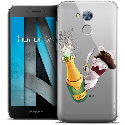 "Crystal Gel Huawei Honor 6A (5"") Case Lapins Crétins™ Champagne !"