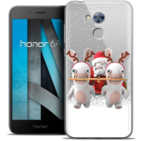 "Crystal Gel Huawei Honor 6A (5"") Case Lapins Crétins™ Lapin Traineau"