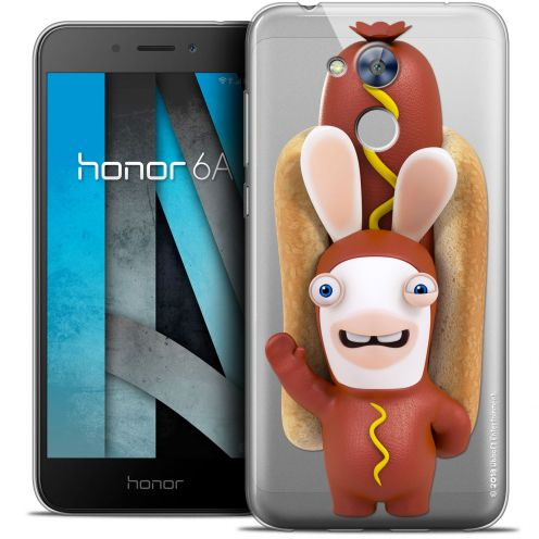 "Crystal Gel Huawei Honor 6A (5"") Case Lapins Crétins™ Hot Dog Crétin"