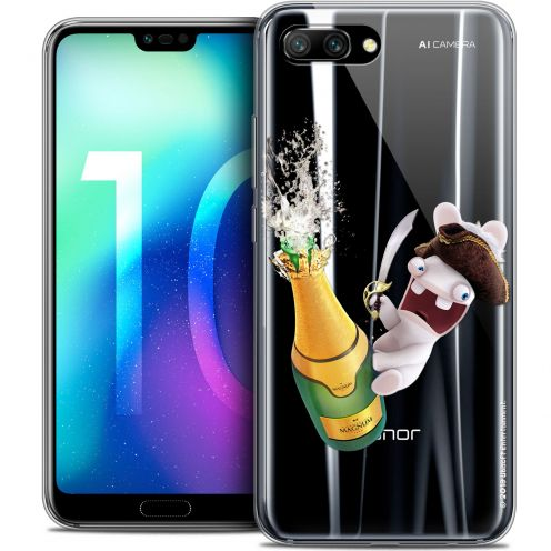 """Crystal Gel Huawei Honor 10 (5.8"""") Case Lapins Crétins™ Champagne !"""