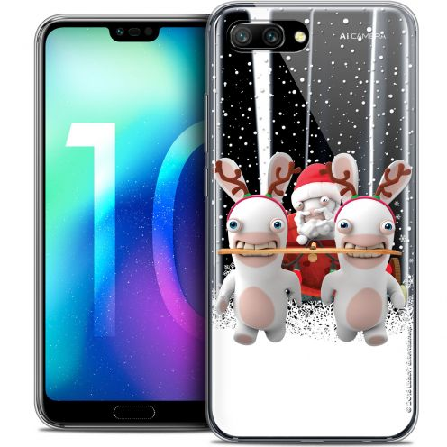"""Crystal Gel Huawei Honor 10 (5.8"""") Case Lapins Crétins™ Lapin Traineau"""