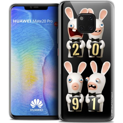 "Crystal Gel Huawei Mate 20 PRO (6.4"") Case Lapins Crétins™ New Year"