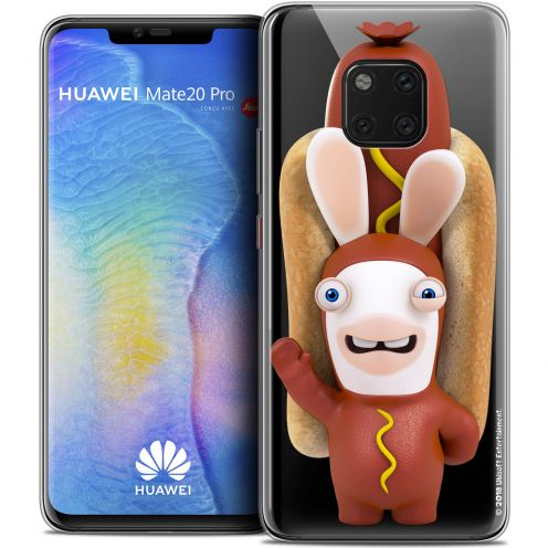 "Crystal Gel Huawei Mate 20 PRO (6.4"") Case Lapins Crétins™ Hot Dog Crétin"