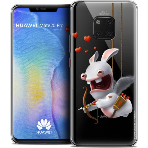 "Crystal Gel Huawei Mate 20 PRO (6.4"") Case Lapins Crétins™ Flying Cupidon"