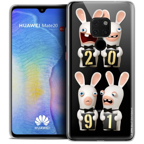 """Crystal Gel Huawei Mate 20 (6.5"""") Case Lapins Crétins™ New Year"""
