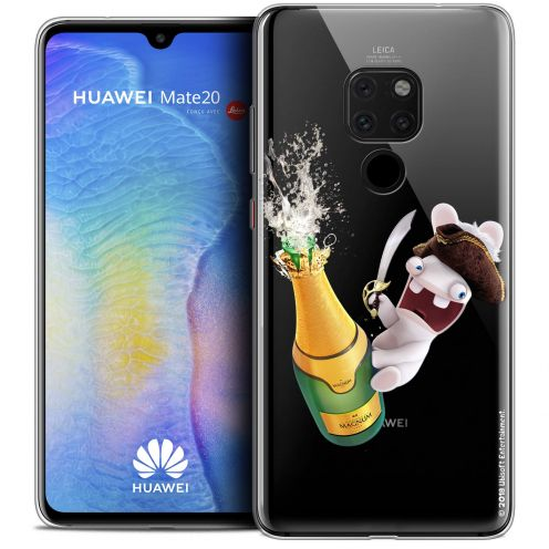 """Crystal Gel Huawei Mate 20 (6.5"""") Case Lapins Crétins™ Champagne !"""
