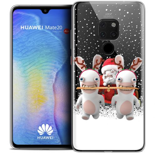 """Crystal Gel Huawei Mate 20 (6.5"""") Case Lapins Crétins™ Lapin Traineau"""