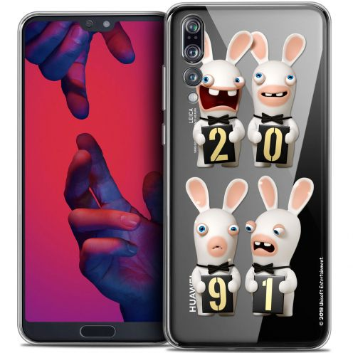 """Crystal Gel Huawei P20 PRO (6.1"""") Case Lapins Crétins™ New Year"""
