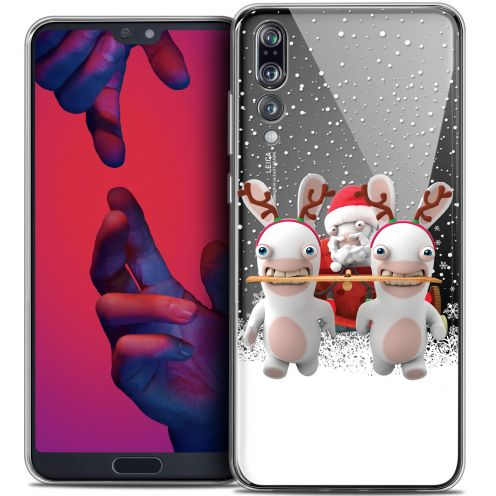 """Crystal Gel Huawei P20 PRO (6.1"""") Case Lapins Crétins™ Lapin Traineau"""