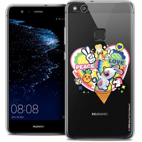 """Crystal Gel Huawei P10 LITE (5.2"""") Case Lapins Crétins™ Peace And Love"""