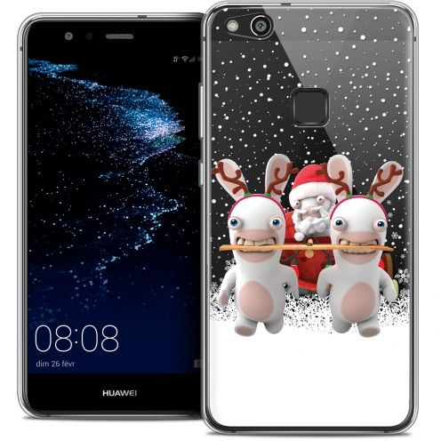 "Crystal Gel Huawei P10 LITE (5.2"") Case Lapins Crétins™ Lapin Traineau"