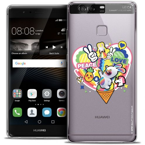 Crystal Rigide Huawei P9 Case Lapins Crétins™ Peace And Love