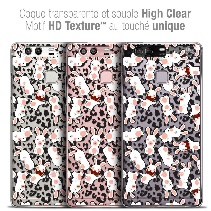 Crystal Rigide Huawei P9 Case Lapins Crétins™ Leopard Pattern
