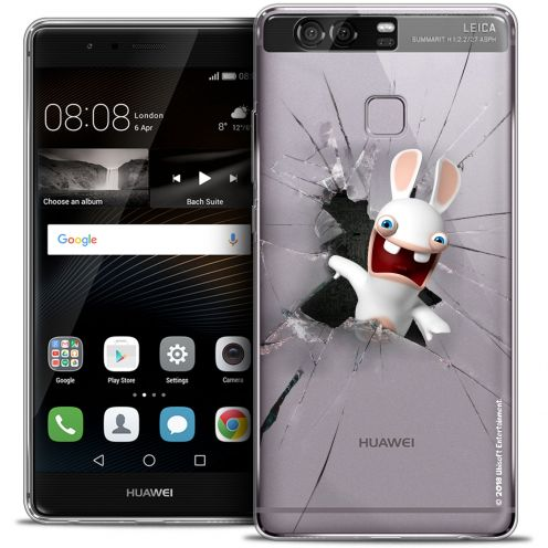 Crystal Rigide Huawei P9 Case Lapins Crétins™ Breaking Glass