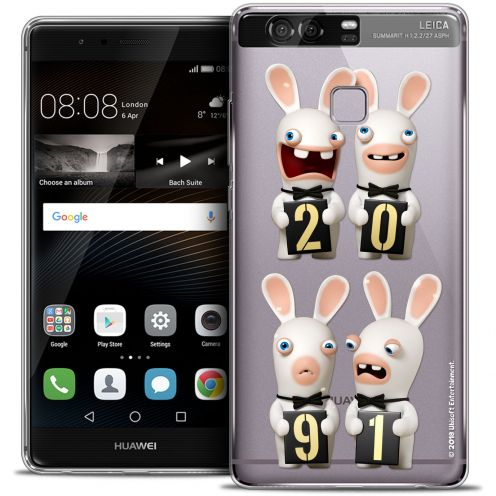 Crystal Rigide Huawei P9 Case Lapins Crétins™ New Year
