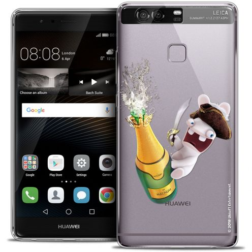 Crystal Rigide Huawei P9 Case Lapins Crétins™ Champagne !