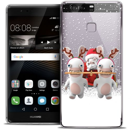 Crystal Rigide Huawei P9 Case Lapins Crétins™ Lapin Traineau