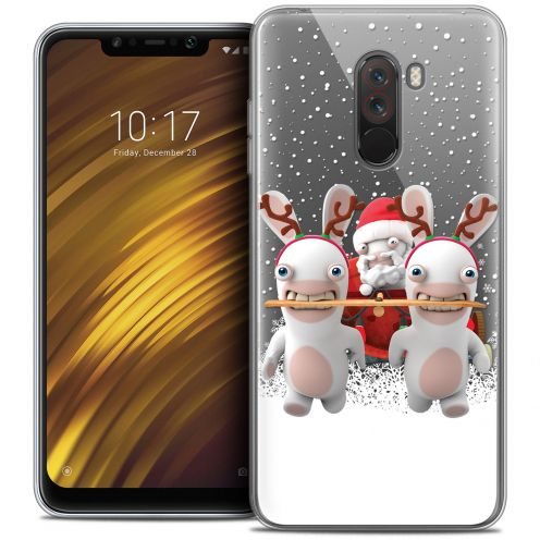 "Crystal Gel Xiaomi Pocophone F1 (6.18"") Case Lapins Crétins™ Lapin Traineau"