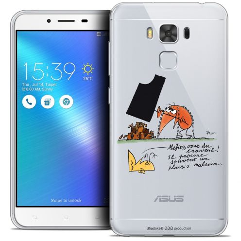 "Extra Slim Crystal Gel Asus Zenfone 3 Max Plus ZC553KL (5.5"") Case Les Shadoks® Le Travail"