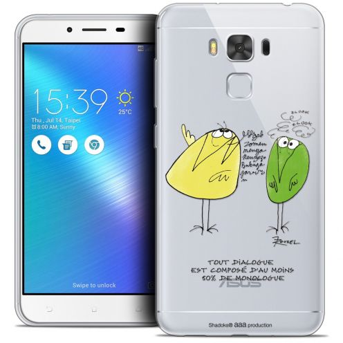 "Extra Slim Crystal Gel Asus Zenfone 3 Max Plus ZC553KL (5.5"") Case Les Shadoks® Le Dialogue"