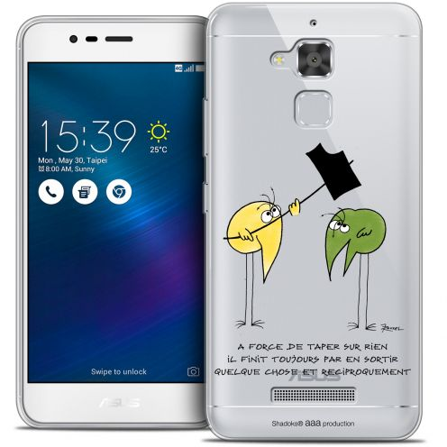 "Extra Slim Crystal Gel Asus Zenfone 3 Max ZC520TL (5.2"") Case Les Shadoks® A Force"