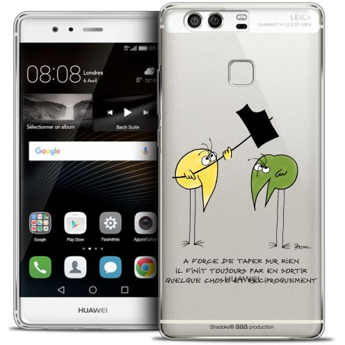 Extra Slim Crystal Rigide Huawei P9 Case Les Shadoks® A Force