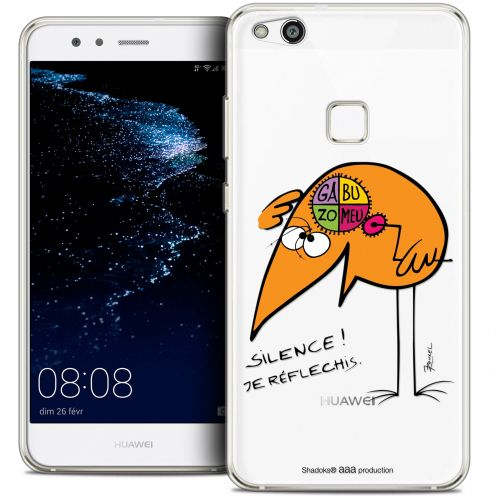 "Extra Slim Crystal Gel Huawei P10 LITE (5.2"") Case Les Shadoks® Silence !"