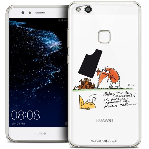 "Extra Slim Crystal Gel Huawei P10 LITE (5.2"") Case Les Shadoks® Le Travail"